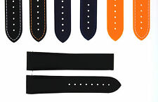 20MM 22MM RUBBER DIVER STRAP BAND DEPLOYMENT CLASP OMEGA SEAMASTER CURVED END