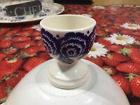 Emma Bridgewater Blue Hen & Border Egg Cup New  Best Discontinued