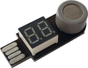 Portable USB Carbon Monoxide Combustible Gas Detector Poisoning Alarm Car Home