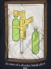 VTG.ORG. IMKING In Case Of Disaster, Break Glass Men's Navy Blue Rare T-shirt XL