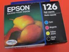 FOUR ink Epson T126 = printer WorkForce 435 520 525 545 630 633 635 645 840 845