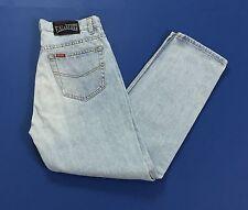 Rifle jeans antifit usati hot w34 l30 tg 48 blu azzurro boyfriend vintage T1496