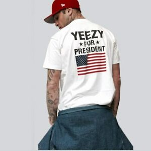 Yeezy For President US Flag T-shirt in White  Size - XL