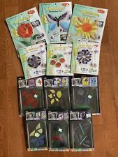 11 Mosaic Art Stained Glass Inlay Packs Flowers Sun Birds Butterfly New