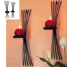Wall Hanging Candlestick Iron Candle Holder Sconce Black Modern Style Home Decor