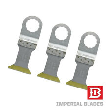 "3x 1-1/2"" Titanium Bi-Metal Oscillating Tool Blade Rockwell Sonicrafter USA MADE"