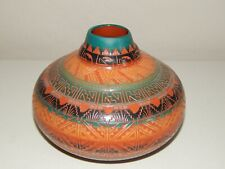 """Native American Navajo Etched Pot ~ Signed """" Largo """""""