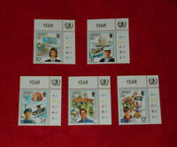 JERSEY MINT STAMPS 30.05.1985 INTERNATIONAL YOUTH YEAR (CYLINDER) SELVEDGE