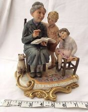 "Capo de Monte vintage figurine ""Grandma's Tales""  in beautiful Condition"