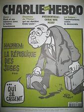 CHARLIE HEBDO 500 JUGE HALPHEN RISS LUZ HONORé WOLINSKI GéBé CHARB SINé 2002