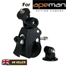 Bike Handlebar Mount Bicycle Clamp Holder For Apeman A60 A66 A70 A80 Action Cams