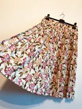 Debenhams  Vintage Midi Flower Pleated Summer Skirt. Size L/ 14 Uk.