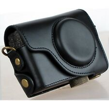 Ever Ready Camera PU Leather Bag Case Cover For Canon S100 S110 S120 S200 Black