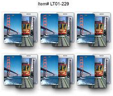 Cable Car Golden Gate  Lenticular Luggage Bag Travel Tag  SET OF 6-#LT01-229-6#