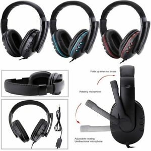 Gaming Headset LED Headphones USB Wired for PS5 XBOX Series X Nintendo Switch
