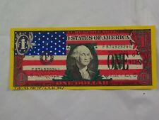 Vintage Mixed Media American Flag Dollar Bill Graffiti