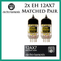 New 2x Electro Harmonix 12AX7 / ECC83 | Matched Pair / Duet / Two Tubes | EH
