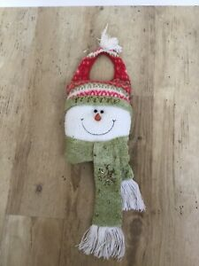 Christmas Snowman Door Hanging Plush Decoration
