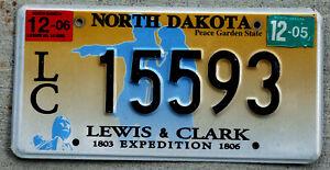 North Dakota Lewis & Clark Expedition License Plate 1803 - 1806 / 2006 Sticker