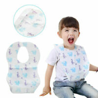 5 Disposable Children's Bibs Baby Waterproof Sterile Eat Bibs With Pocket Set