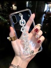 Luxury Bling Diamond Rhinestone Wristband Case Cover for iPhone 11 12 Pro Max XR