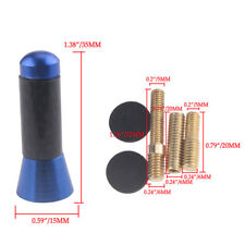 Universal 3.5cm Blue Car Auto Short Stubby Antenna Aerial AM/FM Mast+Screws