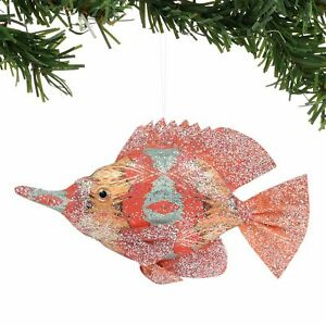 Department 56 Coast to Coast Pacific Gold Watercolor Fish Hanging Ornament 4 In.
