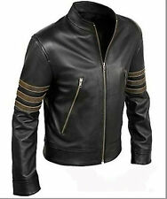 X-Men Wolverine Origins Biker Logan Black Real Cow-hide Leather Jacket