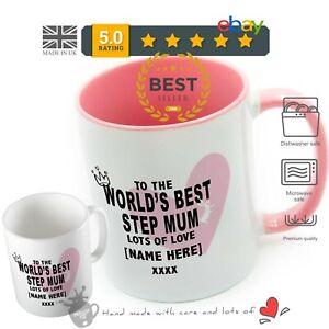 Step Mum - Worlds Best Step Mummy Mug PERSONALISED mugs cup Mothers Day Gift