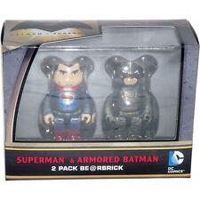 Medicom Be@rbrick Bearbrick DC Comics Superman & Armored Batman 2 Pack 100% Set