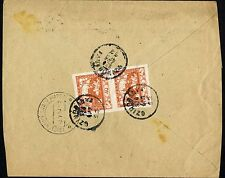 CZECHOSLOVAKIA 1919  SZINÓBÁNYA Cinobaňa  SURVIVING @ PMK  Registered  cover