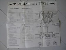 """1969 JAGUAR XKE SERIES 2 E TYPE FACTORY SERVICE CHART VINTAGE 22"""" BY 20"""" MADE UK"""