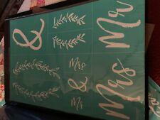 Chalk Couture Transfer, Mr & Mrs 2nd Version, RARE HTF