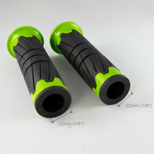 "handlebar grips for Kawasaki Brute Force 300 750 ATV 22mm 7/8"" x2 black & green"
