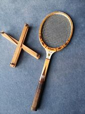 Wilson  Wooden Tennis Racket Stan Smith Autograph with press