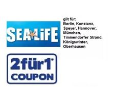 1x SeaLife Berlin, München oder Oberhausen ☆ 2 für 1 Gutschein ☆ bis 31.05.2019