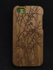 iPhone 5c Bamboo Wood Case ( Crows In Old Tree ) 100% Genuine Wood Cover✔️