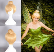 Princess Tinker Bell Tinkerbell Blonde Bun Cosplay Full hair Wigs