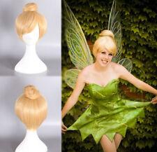 Princess Tinker Bell Tinkerbell Blonde Bun Cosplay Full hair Wig A11