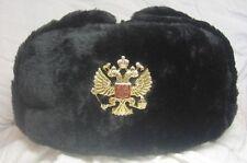 Russia Soldier Chapka Ushanka Imperial Eagle  Size 62-63-64 = XXL