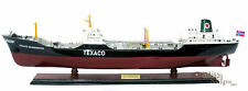 Texaco Skandinavia Tanker Handmade Wooden Oil Tanker Ship Model