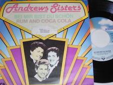 "7"" - Andrews Sisters Bei mit bist du schön & Rum and Coca Cola # 2985"