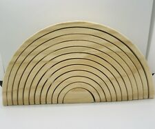 Rainbow Stacker Set (12 PCs) - Handmade Wooden Nesting Puzzle/Creative Build