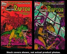 Jurassic Park: Raptor 1 2 with Cards Topps 1993 Complete Set Run Lot 1-2 VF/NM