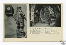 Largest Wine Barrel & Court Jester Zwerg Perkeo at Heidelberg, Germany Postcard