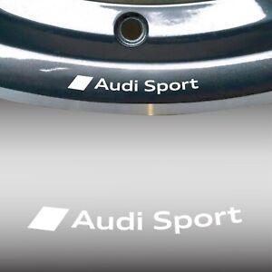 ADESIVO CERCHI AUDI SPORT S LINE ruota in lega A3 A4 A5 TT Q3 S-line A1 BIANCO