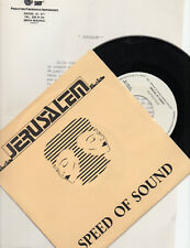 "JERUSALEM ""SPEED OF SOUND"" SPANISH PROMO 7"" VINYL SUPREMAS DE MOSTOLES DISCOFUNK"
