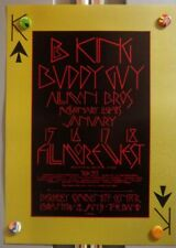 B.B. King BuDdy GuY Allman Bros Bg212 BiLl Graham FiLlmore WeSt 1970 PoSter