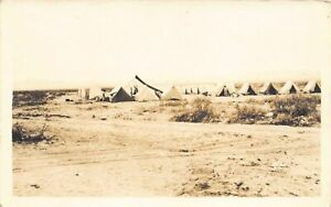 Mexico - Pancho Villa Expedition - Tent camp of U.S. Troops REAL PHOTO - Publ. U