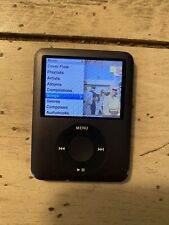 APPLE IPOD NANO 3RD GEN 8GB BLACK PIXEL ISSUE DISCOUNTED